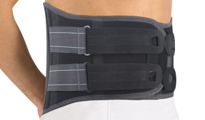 LUMBOSACRAL BRACE WITH THERMOFORMABLE PANEL (h 27cm) #584